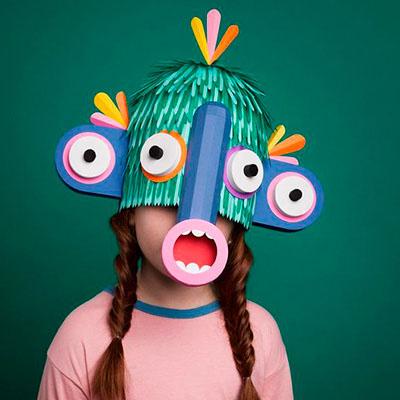Maschera di carta, corso online per bambini