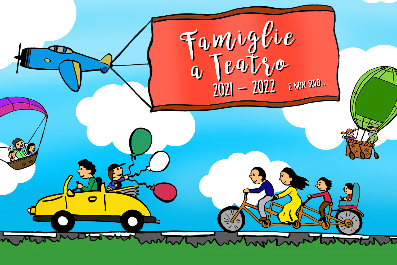 Locandina Famiglie a teatro 2021-22
